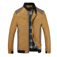 2015 New Design PU Jacket Fashion Leather Coats For Men