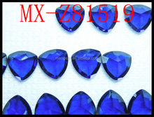 9*9mm wholesale sapphire blue fat triangle cubic zircon for jewelry
