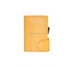 100% genuine italy leather card holder promotional gift 7 card case simple design business cardholder Girasole