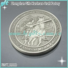High quality antique 3D silver challenge coin