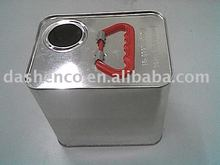 2.5L F-style rectangular chemical paint can
