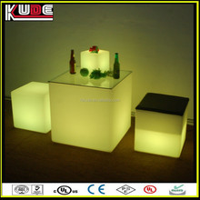modern bright colored interior light led table for party