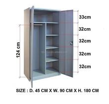 foshan furniture modern cheap steel wardrobe design metal clothes closet