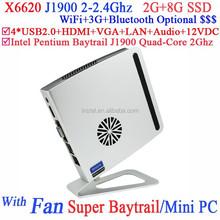 2015 nuevo producto mini pc barato de escritorio de bay J1900 con Pentium Intel Intel Baytrail bay J1900 de cuatro núcleos 2.0 G CPU inteligente especial diseño