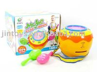 Plastic drum set,Electronic drum toys,Hand Drum Beat with light,