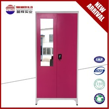 bedroom furniture 2 door metal clothes wardrobes /steel storage locker