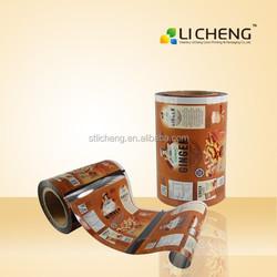 High quality and custom print biscuit packing material/laminated film/laminated aluminium pe film