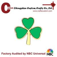 Custom green leaf enamel metal pin