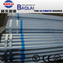 BS1387 / ASTM A53 / A500 WATER FLUID / CONSTRUCTION HOT DIPPED GALVANIZED STEEL PIPE