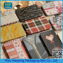 Mini slide tin box cigarette card case cartridge swab U disk packging tin box