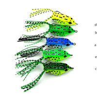 5.5cm 8g frog lure with octopus skirts fishing lures soft plastic fishing lure
