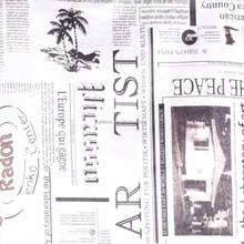 Janpan Linen Fabric Newspaper Printed Linen Fabric For Curtain Cushion Pillow