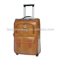 luggage set PU leahter trolley case