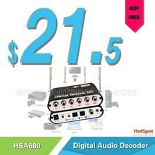 2015 NEW high quality ac3 dts digital audio decoder 5.1 / hdmi to 5.1 rca