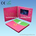 promocional lcd vídeo folleto tarjeta recargable tarjeta de invitación de vídeo folleto tarjeta video promocional