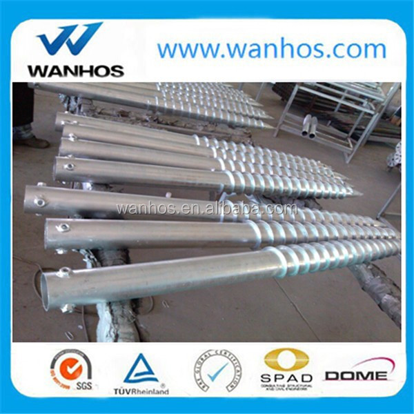 Solar ground screw piles for foundation s for foundation