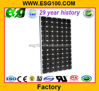 solar panel mounting 200W monocrystalline house solar panel