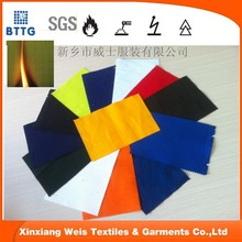 100 cotton 200g 21x21 red fire resistant fabric for FR flame retardant shirt