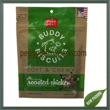Accept custom dog treat chicken food bags, pet feeding packaging bag for puppy food