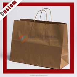 Custom Printed kraft paper bag shopping packaging bag paper paper bag shopping