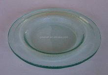 Round Glass Plate clear glass plates green glass charger plates