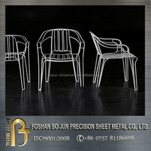 costom aluminum designed delicate chair fabrication made in china professional manufacturer