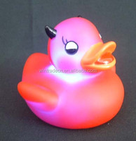 couple sex bath LED flashing toys bath duck 6-10cm
