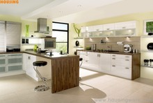 luxury kitchen customized white high gloss lacquer kitchen cabinets for cooking/cuisine