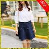 2015 latest fashion Denim A-Line Mini fair maiden dress for ladies