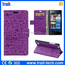 New Arrival Factory Price Flip Cover for Blackberry Leap, for Blackberry Leap Wallet Cover Case