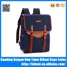 Hot sale waterproof vintage women leather canvas retro rucksack school backpack
