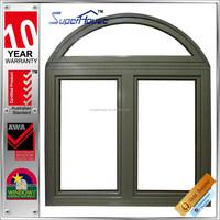 Superhouse australia AS2047 Standard soundproof aluminum round top casement window