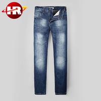 Wholesale 2016 new style fashion denim jeans pants Brand Men's washed denim jeans pants/jeans manufacturer