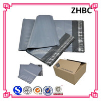 Recycle plastic grey poly mailing bag with self adhesive