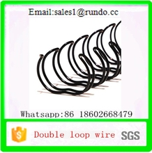 China factory bookbinding nylon coated double wire ring twin ring wire double loop wrie