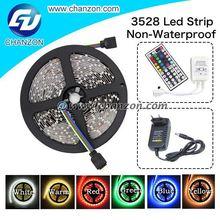 Factory directly 5m 300 led 3528 smd 12v flexible light led tape Non waterproof cheap led strip light