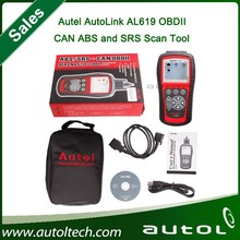 2015 New Autel Autolink AL619 ABS/SRS+OBDII CAN Diagnositc Scan Tool Diagnoses/erases ABS/SRS codes Turn off Check Engine Light