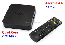 2015 New Original MXQ TV BOX Amlogic S805 Quad Core Android 4.4 Kitkat Airplay Miracast 3D with fast Shipping