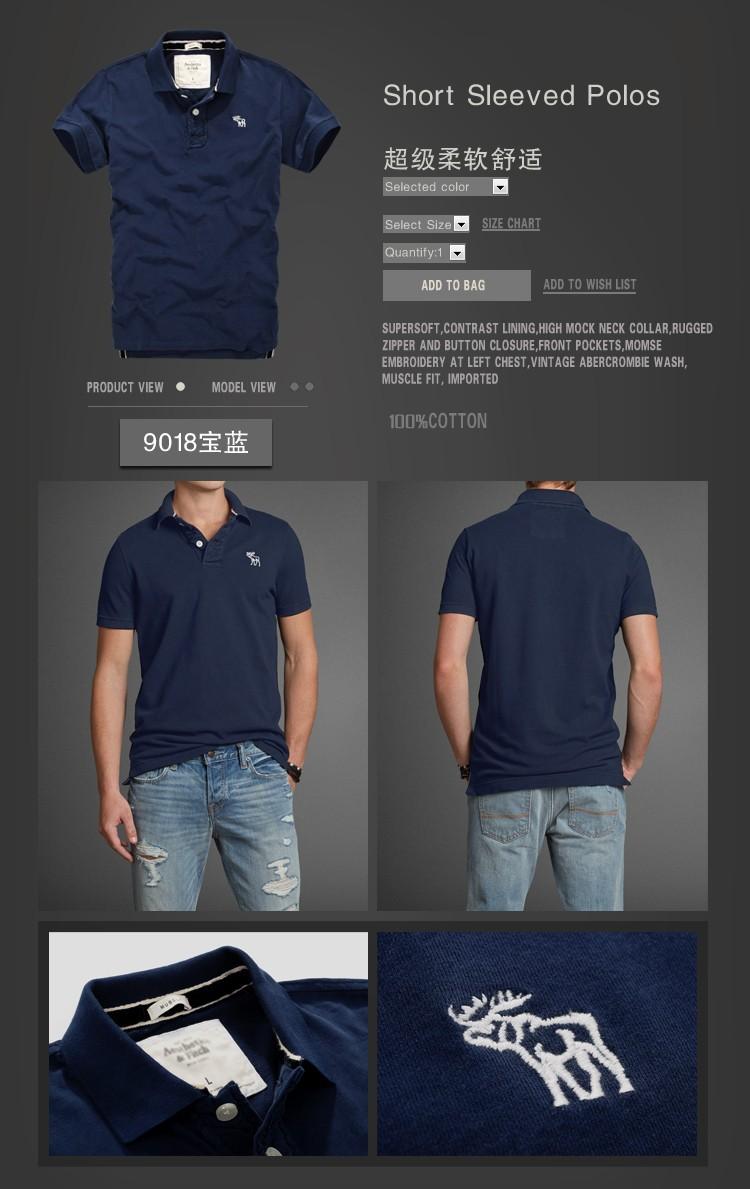 abercr ombie mencausal camisetas XXL