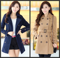 Elegant Women High Quality Lace Coats Slim Korean Coats Formal Overcoats