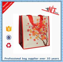 oem factory supplier nylon webbing handles non woven shopping tote bag