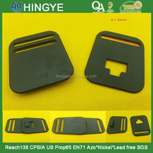 Black color Plastic Interlocking Buckles For luggages --- P4229