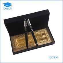Fancy cheap business gifts twin pen set/ballpen with roller pen