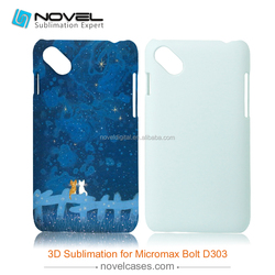 3D blank sublimation case for Micromax Bolt D303