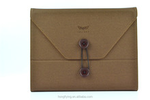 Universal leather case for iPad Air with elastic belt