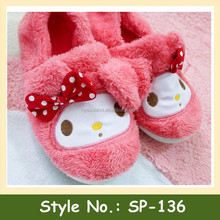 SP-136 Women Winter Warm Shoes Coral Fleece Rose Home Slippers Soft Bottom Antiskid Indoor Shoes Slippers