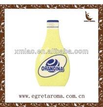 beer and wine promotional items/ fruite juice bottle paper car air freshener