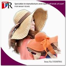 2015 New Fashion Ladies Summer Sun Beach Wide Brim Floppy Straw Hat