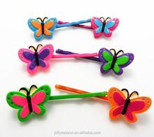 Children hair slide Colorful butterful bobby pins kids girls hair clip hairpin grip headwear