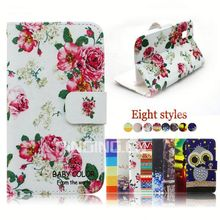 new product wallet card slots stand cover flip leather case For HTC Desire 326G dual sim